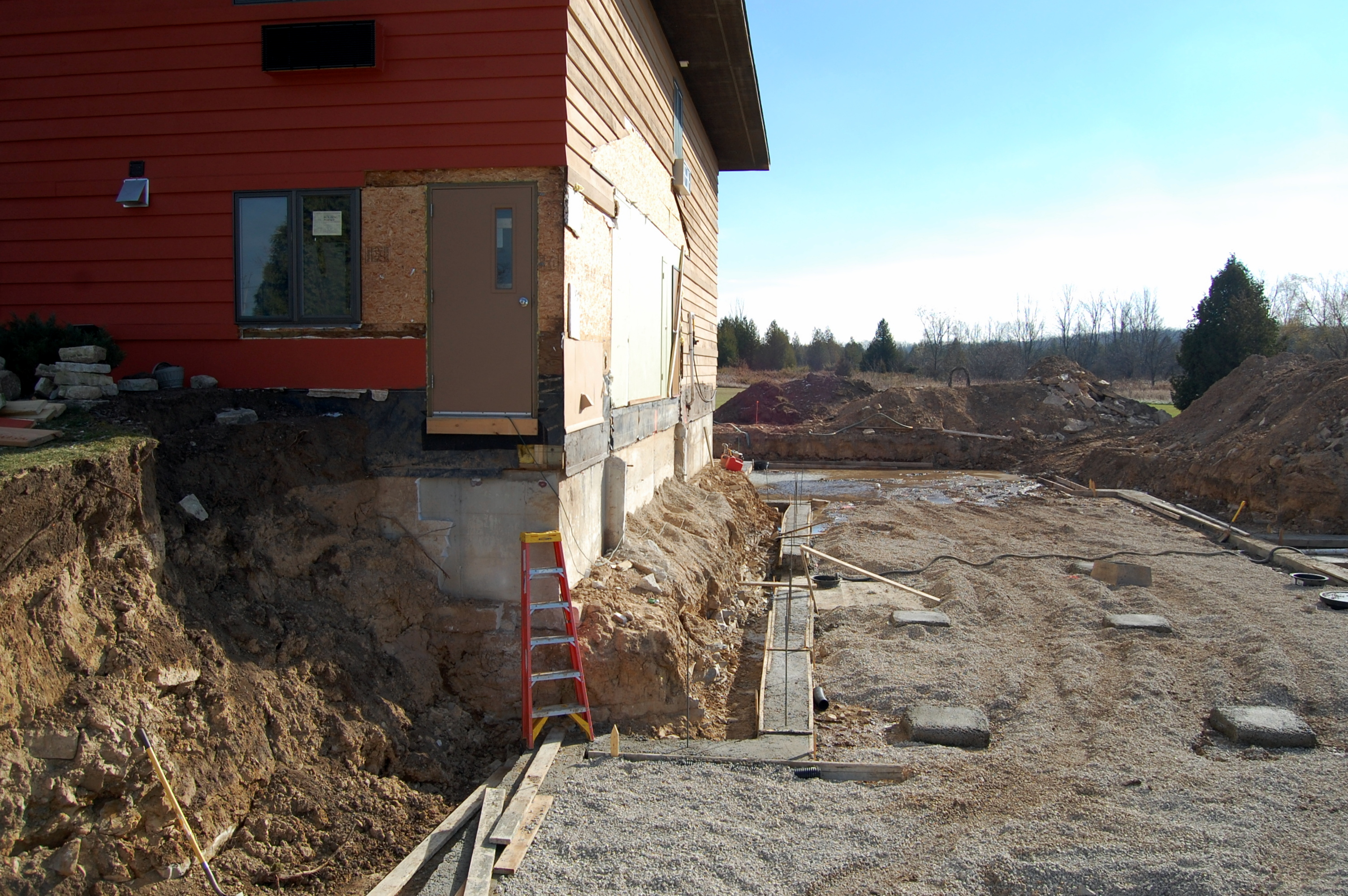 Construction At Open Hearth Lodge In Sister Bay Elevator