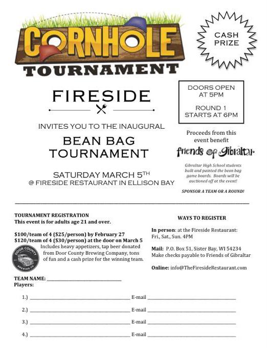 Cornhole Tournament At Fireside Restaurant Door County