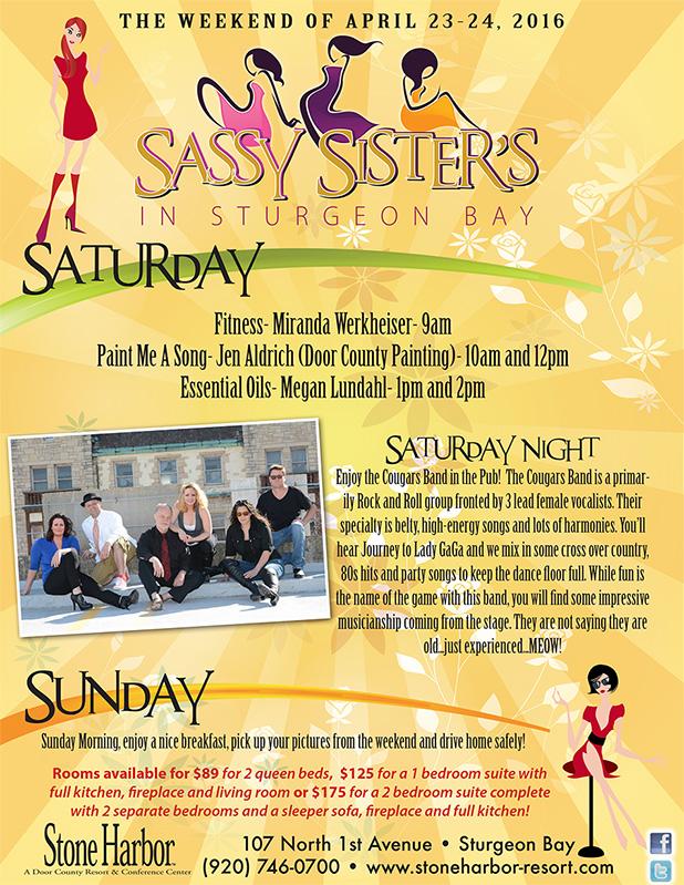 Sassy Sisters Weekend In Sturgeon Bay Door County