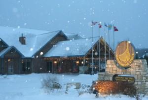 scandinavian lodge winter from FB