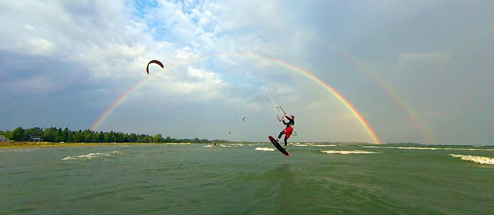 Baileys Harbor Wind Surfing rainbow