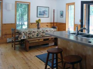 Door County Lakehouse Rentals kitchen