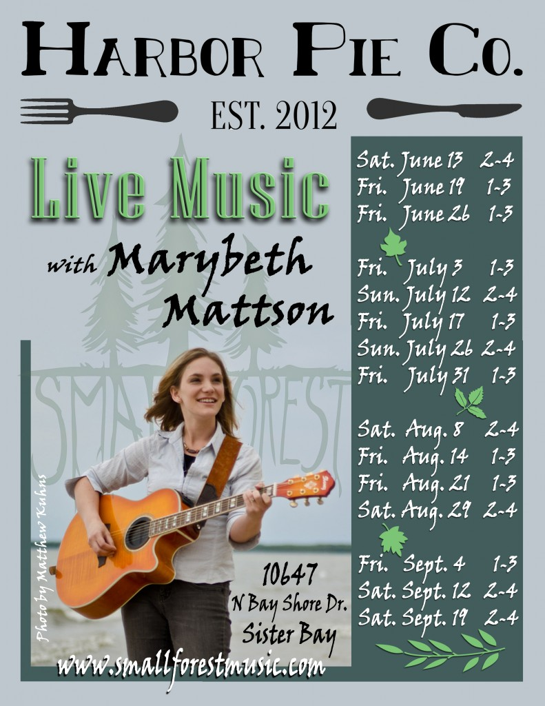 Marybeth Mattson at Pie Co poster 2015