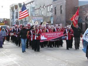Sturgeon Bay high marching band 2013 holiday parade