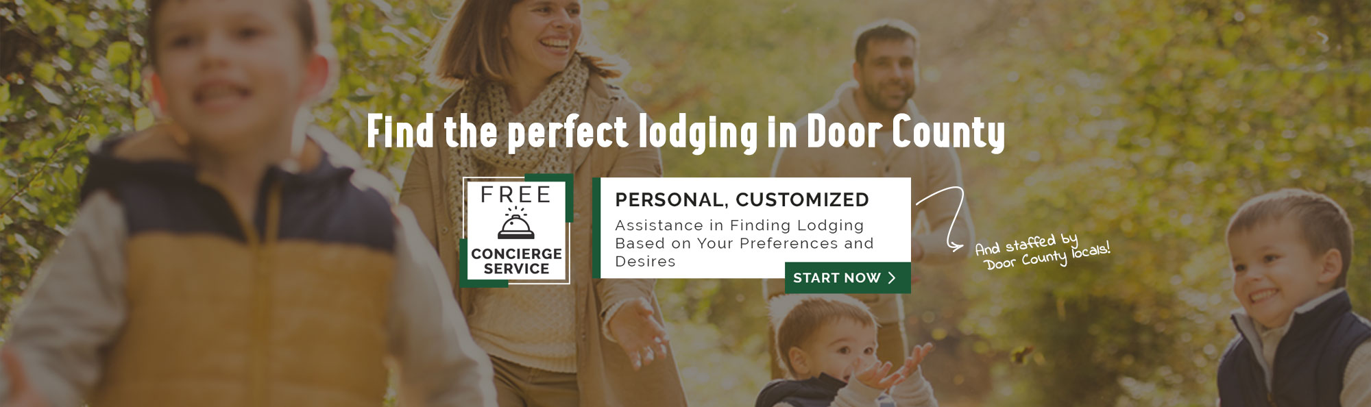 find the perfect lodging in door county free concierge service
